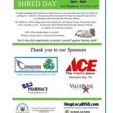 shred day 2020 with sponsors